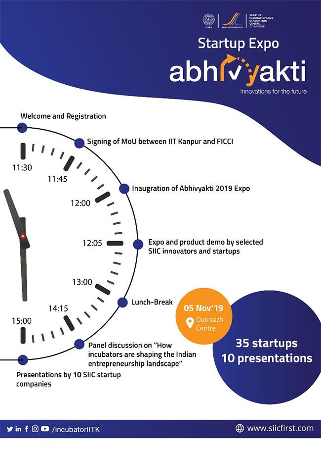 IIT Kanpur's Startup Showcase 'Abhivyakti'  Begins Today