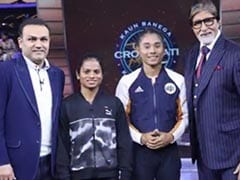 <i>Kaun Banega Crorepati 11</i>, Episode 54 Written Update: Amitabh Bachchan Welcomes Virender Sehwag, Dutee Chand And Hima Das On The Show