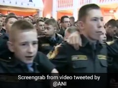 """Goosebumps"" As Russian Military Cadets Seen Singing Indian Patriotic Song: Watch"