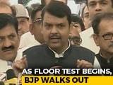 """Video : """"Never In History"""": Devendra Fadnavis Leads BJP Walkout Before Floor Test"""