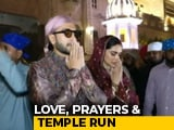 Video : Deepika Padukone, Ranveer Singh Visit Golden Temple On Wedding Anniversary