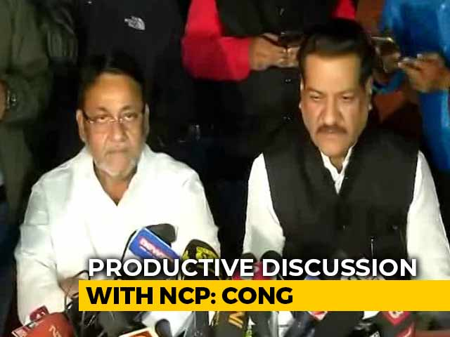 "Video : ""Stable Maharashtra Government Soon"": Congress, NCP Say Talks To Continue"