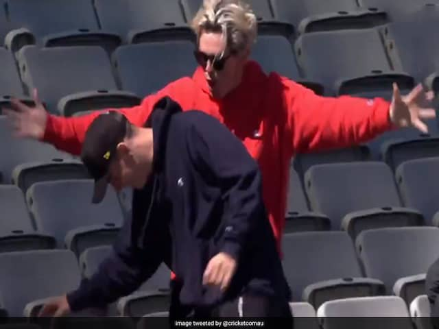 Fan Reacts Angrily As Friend Drops Aaron Finch In The Stands. Watch Video
