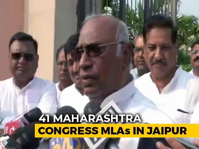 Video : Amid Maharashtra Impasse, Mallikarjun Kharge Meets Congress MLAs