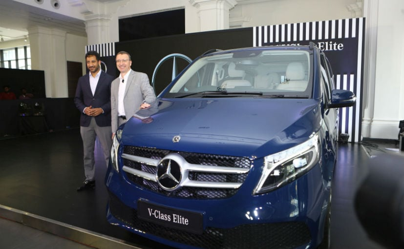 Martin Schwenk, MD & CEO, Mercedes-Benz India, Arun Surendra, MD, Titanium Motors with the V-Class Elite