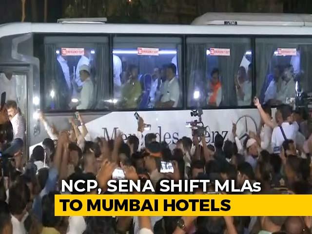 Video : Congress, NCP, Sena Move MLAs To Mumbai Hotels To Keep Flock Together