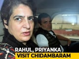 Video : Rahul Gandhi, Priyanka Meet P Chidambaram In Jail Ahead Of Bail Hearing