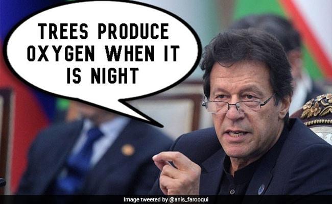 पाकिस्तान के पीएम इमरान खान बोले- 'रात के समय पेड़ ऑक्सीजन देते हैं...' लोगों ने ऐसे उड़ाया मजाक