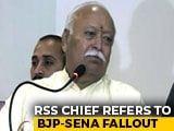 "Video : ""Everyone Knows Selfishness Is Bad..."": RSS Chief Amid BJP-Sena Fallout"