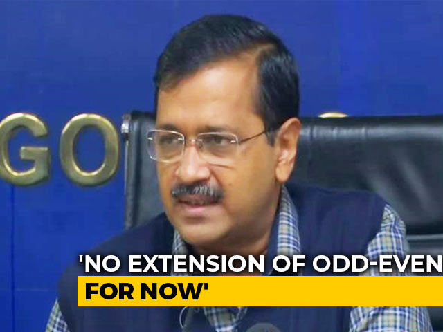 Video : Odd-Even In Delhi Ends Today. Arvind Kejriwal Says Will Review Extension On Monday