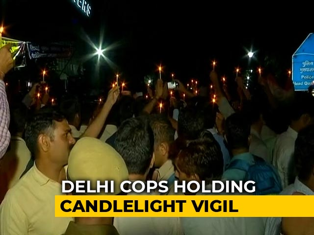 Video : Cops Hold Candles, Joined By Families As Protest Rolls Into Night