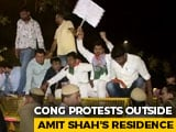 Video : Congress Protests At Amit Shah's Home After Gandhis' SPG Security Dropped