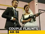 Video : Naga Rebel's Son, Bride Flaunt Assault Rifles At Wedding Reception