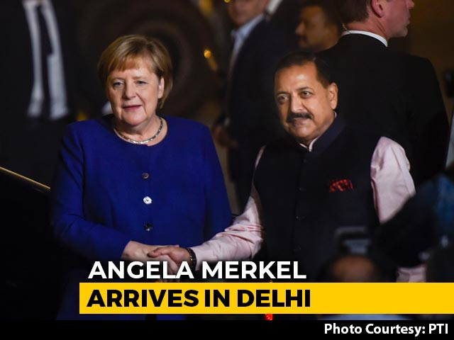 Video : German Chancellor Arrives In Delhi, To Hold Talks With PM Modi Today