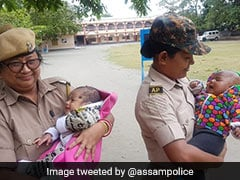 While Mothers Took Exam, They Took Care Of Babies. Internet Lauds Assam Police