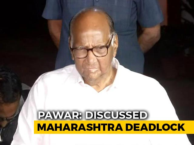 Video: More Talks Needed On Maharashtra: Sharad Pawar After Meeting Sonia Gandhi