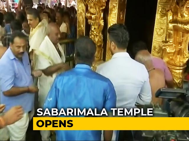 Video : Sabarimala Temple Opens Amid Row Over Women Of All Ages Visiting Shrine