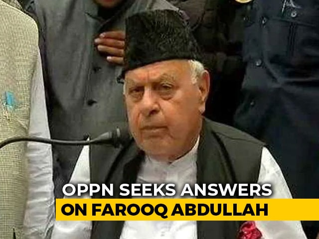 "Video : ""Where's Farooq Abdullah?"" United Opposition Sets Tone For Parliament Session"