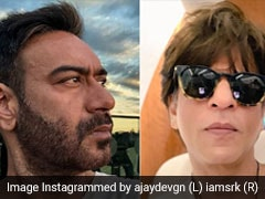 अजय देवगन की फिल्म का पोस्टर हुआ रिलीज तो शाहरुख खान बोले- दो मोटरसाइकिल पर स्टंट करने से...