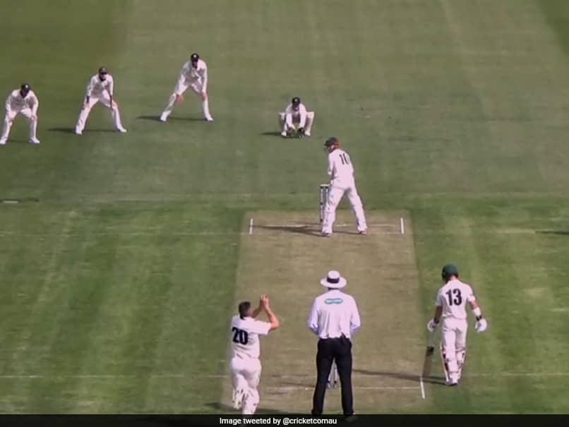 Australia Batsman George Baileys Bizarre Batting Stance Leaves Fans Bewildered. Watch