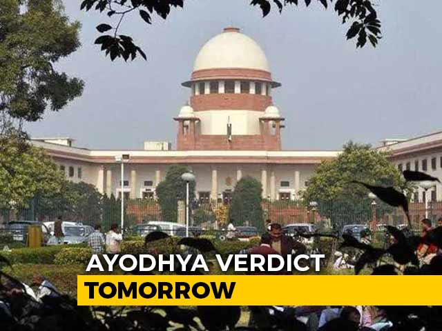 Video : Historic Supreme Court Verdict In Ayodhya Case Tomorrow