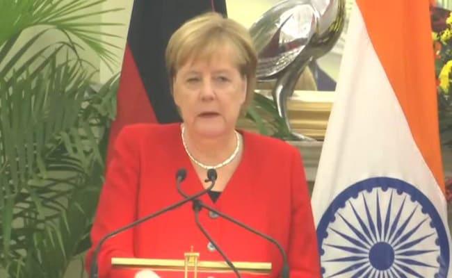 भारत यात्रा पर आईं जर्मनी की चांसलर ने कहा- भारत में अगले 5 सालों में करेंगे एक अरब यूरो का निवेश