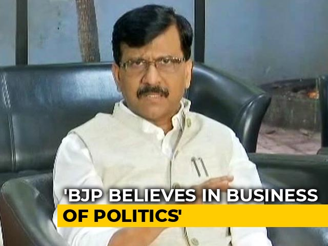 "Video : ""When Threats Don't Work..."": Sena's Sanjay Raut On Maharashtra Deadlock"