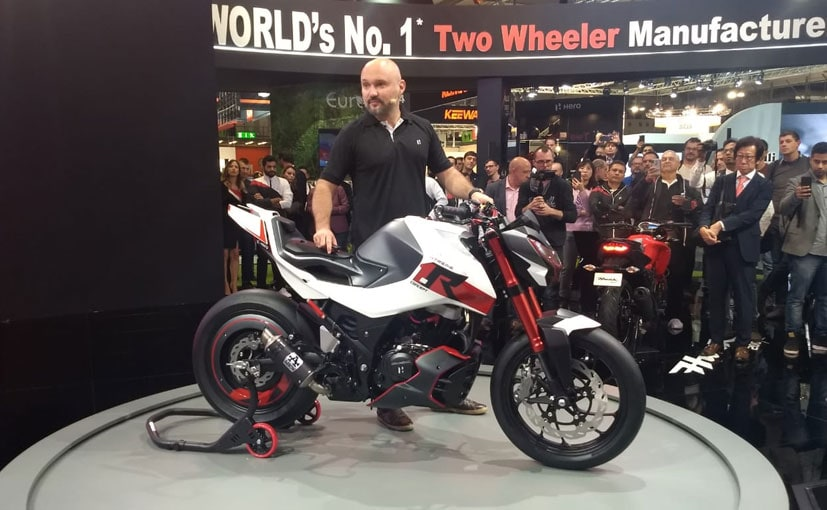 The Hero Xtreme 1.R concept could preview a new street-naked in the 150-200 cc segment