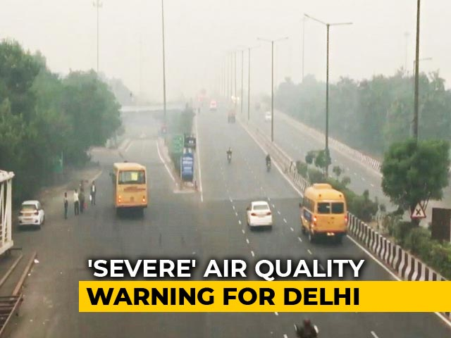 "Video : Air Quality In Delhi Slips To ""Severe"" Category Again"
