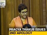 Video : On Demand, Pragya Thakur Apologises Twice Amid Row Over Godse Remark