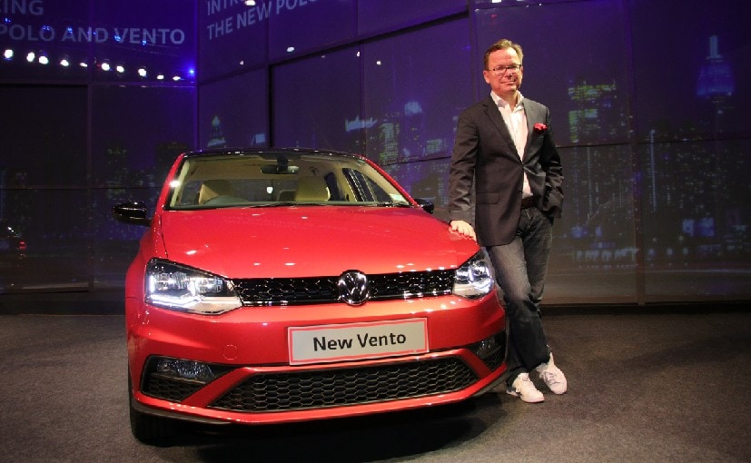 Volkswagen Passenger Cars, Director, Steffen Knapp with the 2019 Volkswagen Vento