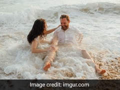 Couple's Beachside Wedding Photoshoot Ruined By Ocean Tide