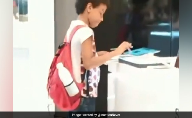 Viral Video: With No Computer, Boy Uses Tablet At Store To Do Homework