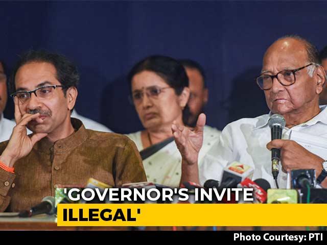 Video : Shiv Sena, NCP, Congress Move Supreme Court After BJP's Maharashtra Coup