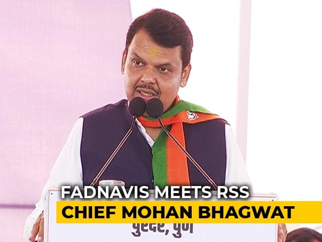 Video : Devendra Fadnavis Meets RSS Chief In Nagpur Amid Maharashtra Deadlock