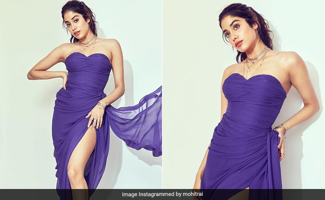 In Deep Purple, Janhvi Kapoor Sets The Colour Code For Autumn 2019