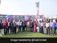 "Sourav Ganguly Poses With CAB ""Elite Team"" Post Successful Pink-Ball Test"