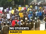 Video : Protesting JNU Students Stopped By Cops During March To Parliament