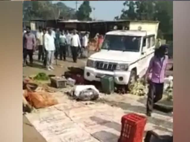Video : Video Shows UP Official's SUV Crushing Farmer's Vegetables At Market