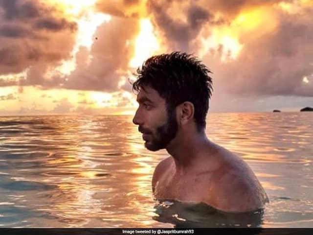 Jasprit Bumrah Enjoys Leisure Time Amidst Sea Water, Picturesque Sky