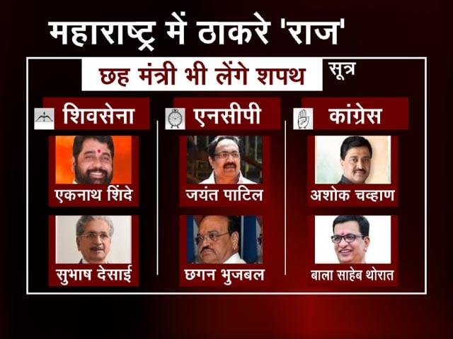 Videos : Maharashtra: सीएम उद्धव ठाकरे के साथ तीनों दलों के दो-दो मंत्री भी लेंगे शपथ
