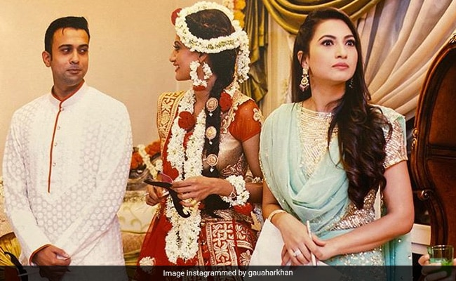 Gauahar Khan Shares Pics From Sister Nigaar's Wedding: 'If Looks Could Kill', We'd Be Dead By Now
