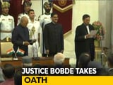 Video : Justice SA Bobde Takes Oath As 47th Chief Justice Of India