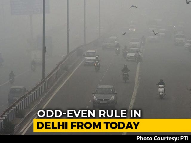 Video : Odd-Even Rule In Delhi From Today As City Gasps Under Choking Smog
