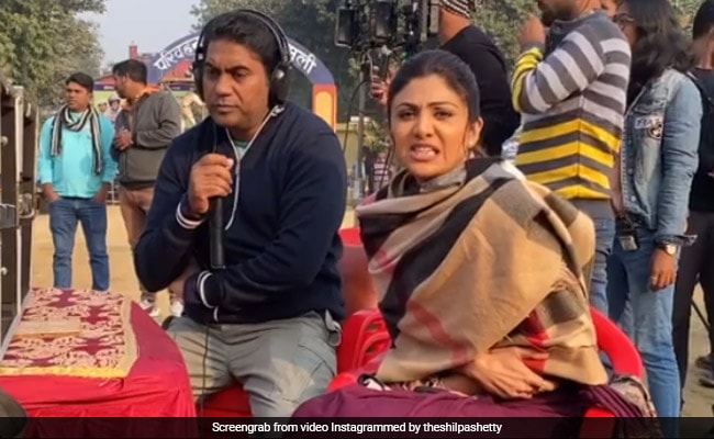 Shilpa Shetty, Shivering In Cold, Trolls Director For Making Her Wear Cotton Saree