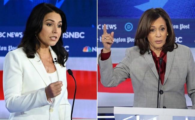 Kamala Harris, Tulsi Gabbard Spar At US Democratic Presidential Debate