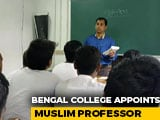 Video : Bengal College Welcomes Muslim Sanskrit Professor As Row In BHU Continues