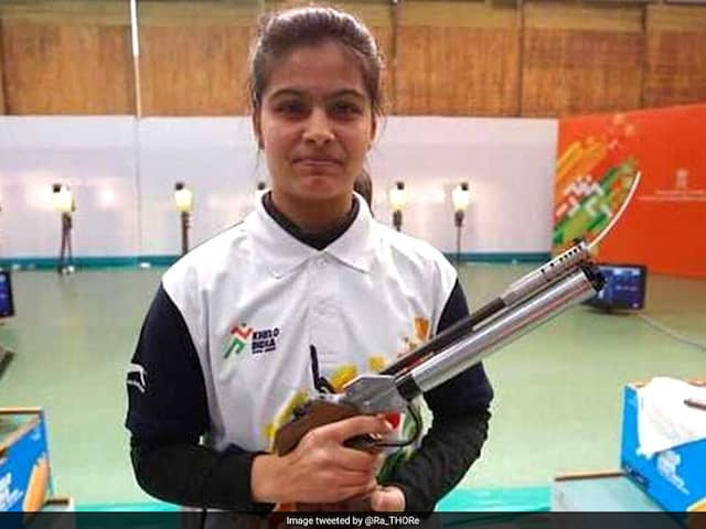 Shooter Manu Bhaker breaks junior world record in 10m Air Pistol, bags gold for India