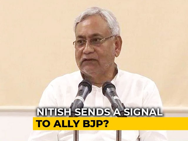 Video : With Support To Challenger Of Raghubar Das, Nitish Kumar Sends A Signal