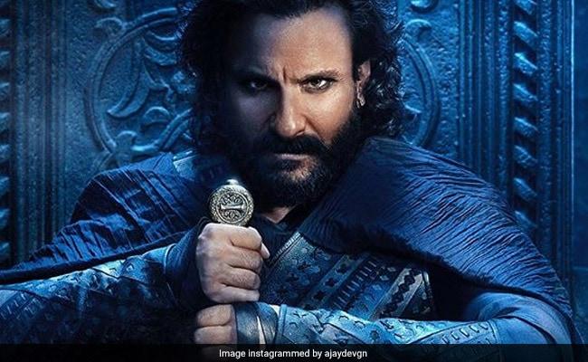 Ajay Devgn, Kajol Share New Tanhaji Poster: Saif Ali Khan's Icy Stare Will Pierce Your Soul